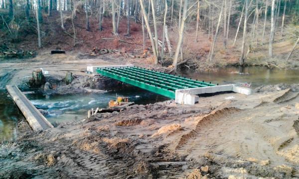 """budowa mostu """"Harcerskiego"""""""