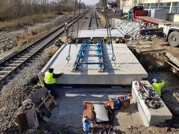 Witnica – budowa mostu kolejowego