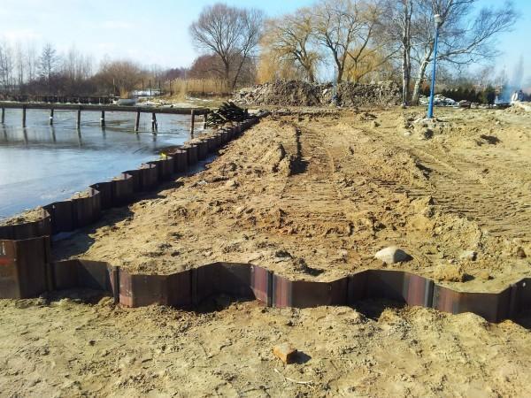 realizacja budowy nabrzeża według projektu