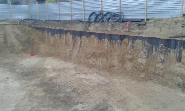 działania przy budowie wykopu