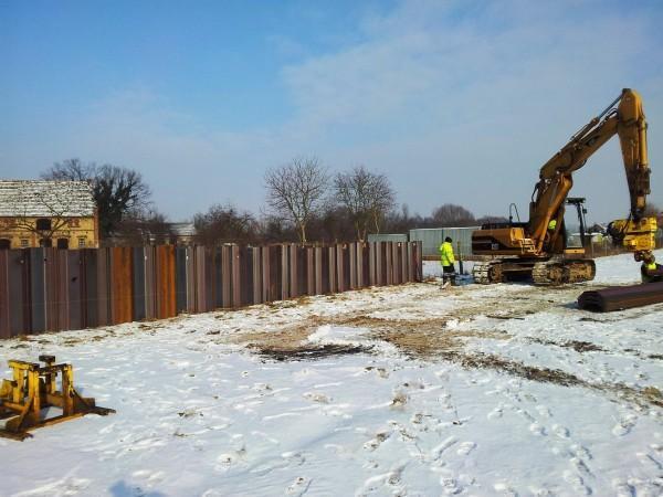 prace budowlane zimą