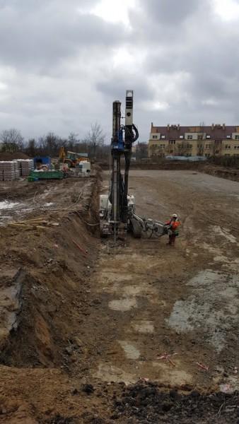 prace nad wzmocnieniem gruntu
