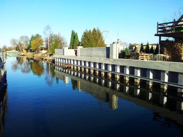 realizacja lini brzegowej rzeki