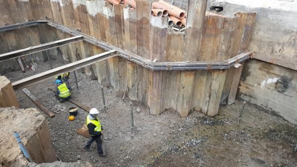 wzmocnienie ścian wykopu