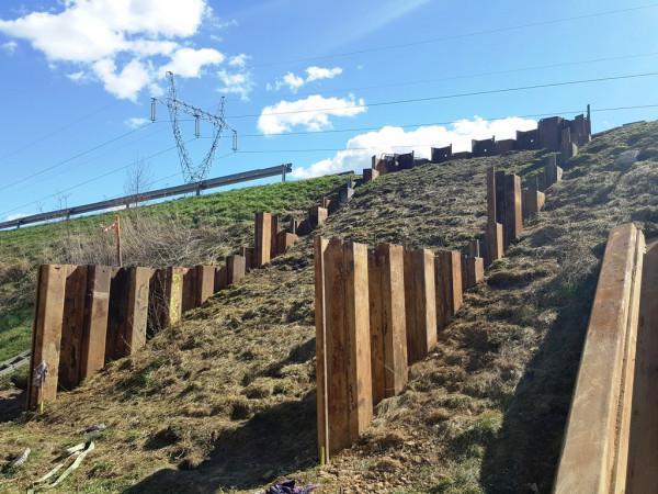 pogrążenie grodzic tymczasowych w Goleniowie